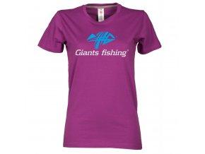 Tričko dámské fialové Giants Fishing
