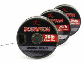 Zfish Šňůrka Scorpion Sinking Braid 20m