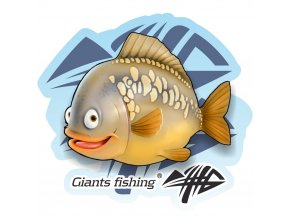 Giants Fishing Nálepka velká - Giants Fishing Kapr detský