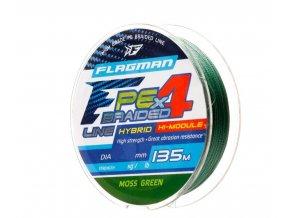 Flagman pletená šňůra Braid PE Hybrid F4 135m MossGreen