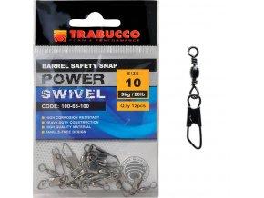 Obratlík s karabinou Barbel Safety Snap 12ks, vel.10