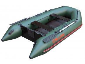 Nafukovací čluny Elling - Forsag 240 s pevnou skládací podlahou, zelený