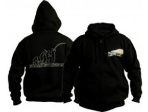 DOC Fishing mikina evolution s kapucí - černá