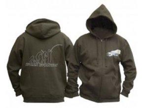 DOC Fishing mikina evolution s kapucí - zelená