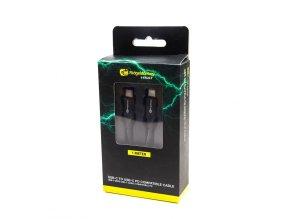 RidgeMonkey Napájecí kabel Vault USB C to C Power Delivery Compatible Cable 1m