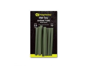 RidgeMonkey Smršťovací hadička RM-Tec Shrink Tube 3,6mm Weed Green 10ks