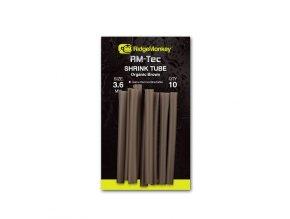 RidgeMonkey Smršťovací hadička RM-Tec Shrink Tube 3,6mm Organic Brown 10ks