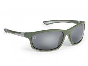 fox bryle sunglasses green silver grey lense