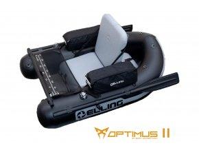 Nafukovací Belly Boaty Elling - Belly Boat Optimus II černý