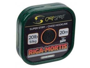 Carp Spirit návazcová šňůrka Riga Mortis 20 m/11,3 kg/25 lb zelená