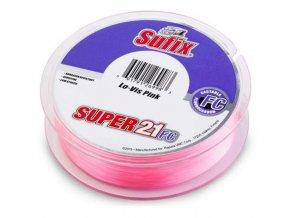 Sufix Super 21 Fluorocarbon 50 m kg růžový