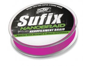 Sufix Nano Braid 100 m růžová