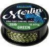 Kryston pletené šňůrky - Merlin fast sinking braid zelený 25lb 20m