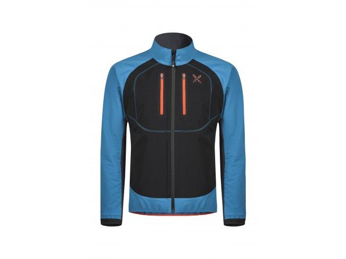 MONTURA FREE TECH JACKET Pánská bunda (Farba Blu ottanio/aragosta 8365, Veľkosť XL)
