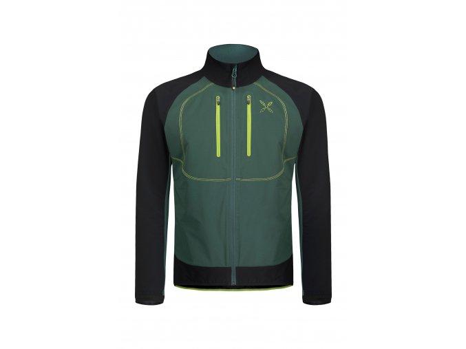 MONTURA FREE TECH JACKET Pánská bunda (Farba Nero verde/Foresta 9041, Veľkosť L)