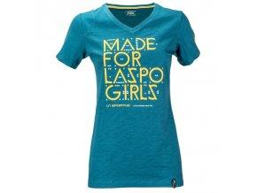 LA SPORTIVA FOR LASPO T-SHIRT WOMAN (Farba FJORD, Veľkosť S)