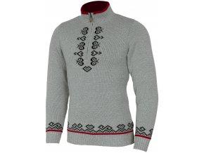 SPORTCOOL Pánský svetr Pyeongchang 395 - šedý melír / černá