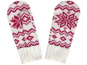 SPORTCOOL Dámske rukavice 124/02 - přírodní/červená