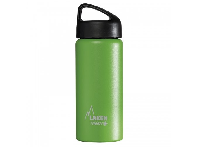 insulated bottle 05l green stainless steel classic wide mouth
