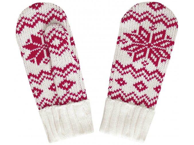 SPORTCOOL Dámske rukavice 124/02 - prírodná/červená