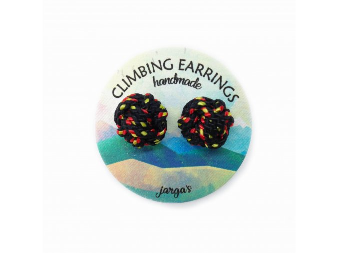 Climbing knot earrings black
