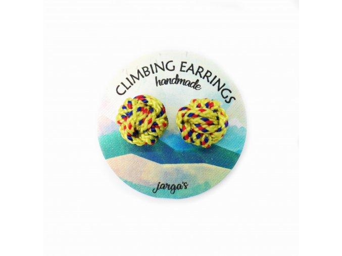 Climbing knot earrings yellow