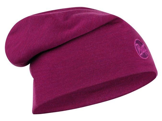 Buff Heavyweight Merino Wollm tze Loose solid raspberry[640x480]