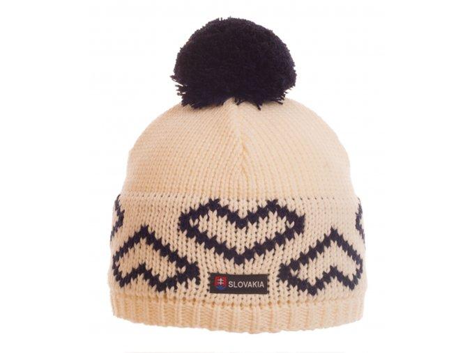 SPORTCOOL Pánska čiapka SOCHI 288 - prírodná/tmavomodrá