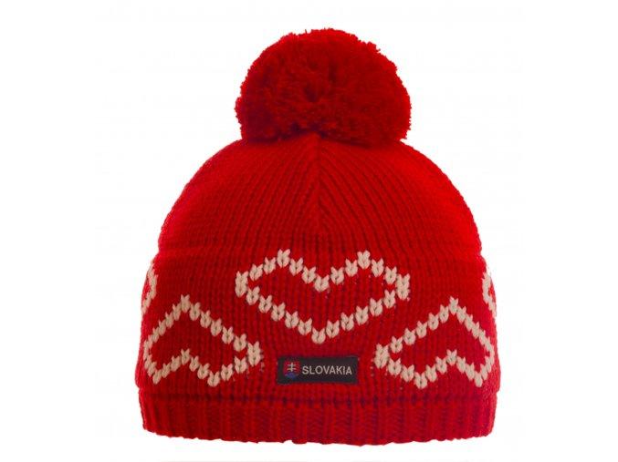 SPORTCOOL Dámska čiapka SOCHI 285 - červená/prírodná
