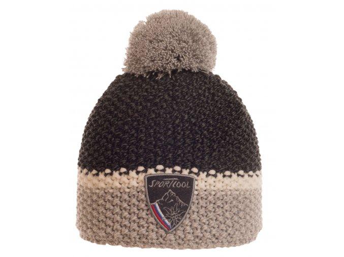 SPORTCOOL Pánska čiapka 224 - čierna/svetlosivá