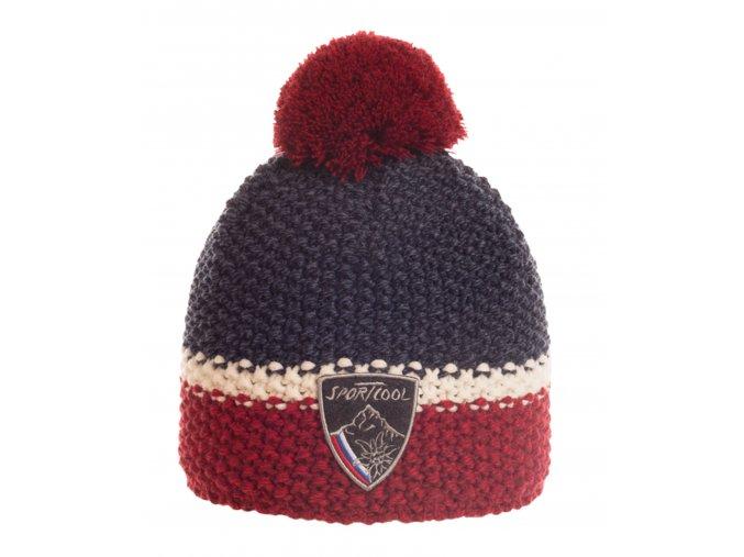 SPORTCOOL Pánska čiapka 224 - tmavomodrá/bordová