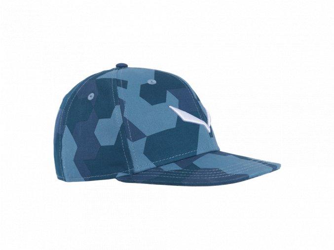 SALEWA PUEZ CAMOU FLAT CAP poseidon