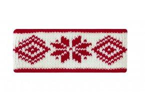 SPORTCOOL Dámska čelenka 125/02 - prírodná/červená