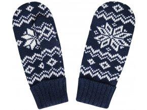 SPORTCOOL Pánske rukavice 124/08 - tmavomodrá/prírodná
