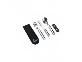 stainless steel cutlery 3 pcs with neoprene cover