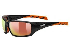 uvex sportstyle 308 black mat orange s4
