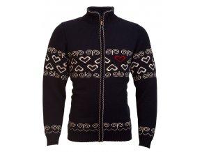 SPORTCOOL Pánsky sveter SOCHI 389 - tmavomodrá/prírodná