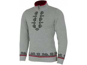 SPORTCOOL Pánsky sveter PYEONGCHANG 395 - sivý melír/čierna