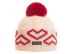 SPORTCOOL Dámska čiapka SOCHI 285 - prírodná/červená