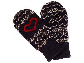 SPORTCOOL Pánske rukavice SOCHI 290 - Tmavomodrá/prírodná
