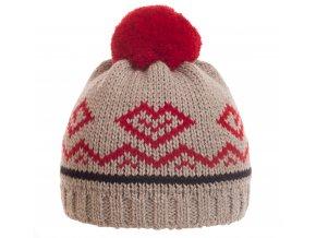 SPORTCOOL Dámska čiapka PEYONGCHANG 291 - sivý melír/červená