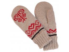 SPORTCOOL Dámske rukavice PYEONGCHANG 293 - sivý melír/červená