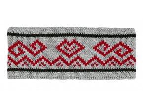 SPORTCOOL Dámska čelenka PYEONGCHANG 294 - sivý melír/červená