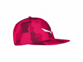 SALEWA PUEZ CAMOU FLAT CAP rose red