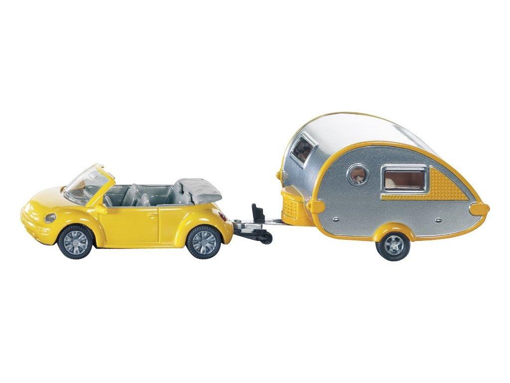 VW Beetle Cabrio s karavanem Tab
