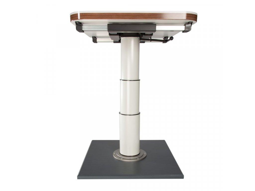 Rám jednoho stolu s mechanismem otáčení a řazení