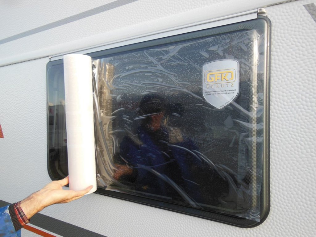 Ochranná fólie na okna