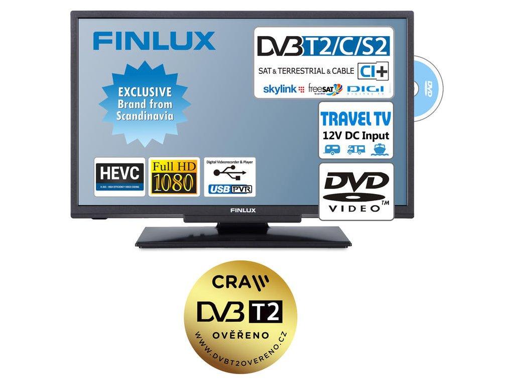 Finlux TV22FDMF4760 -T2 SAT DVD 12V-