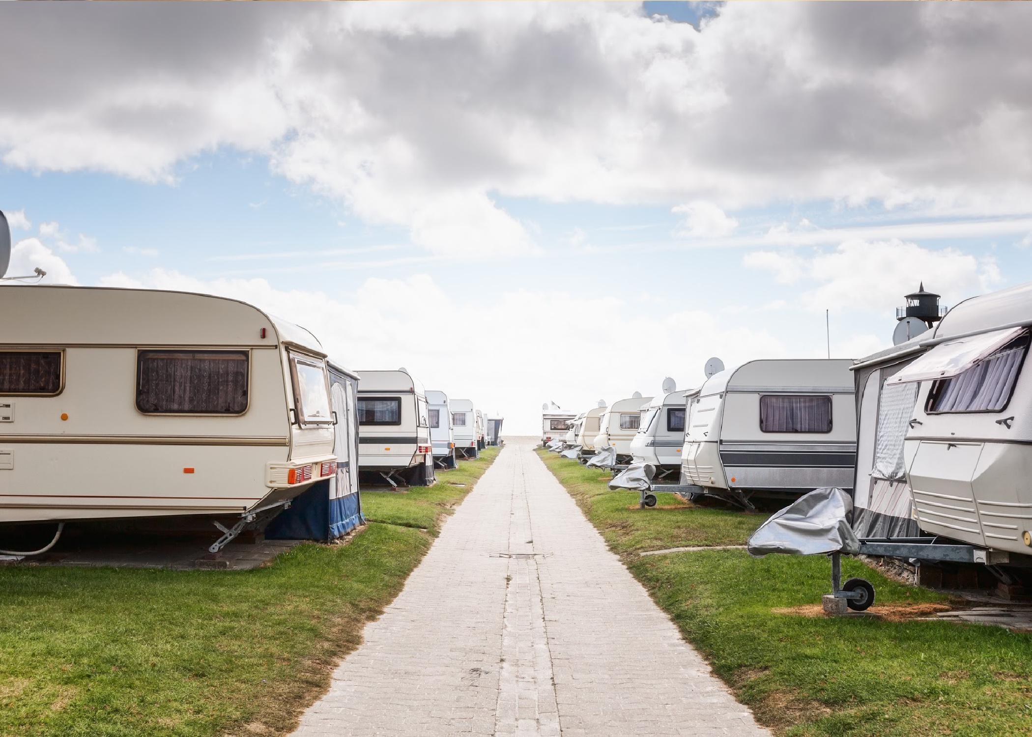 Kde můžete zaparkovat karavan?