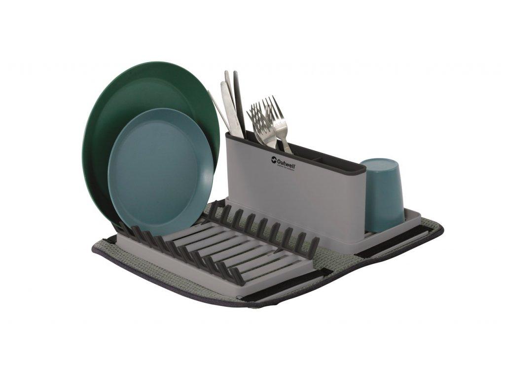 650980 Dunton Foldable Dish Rack w Sponge Drain Feature photo3
